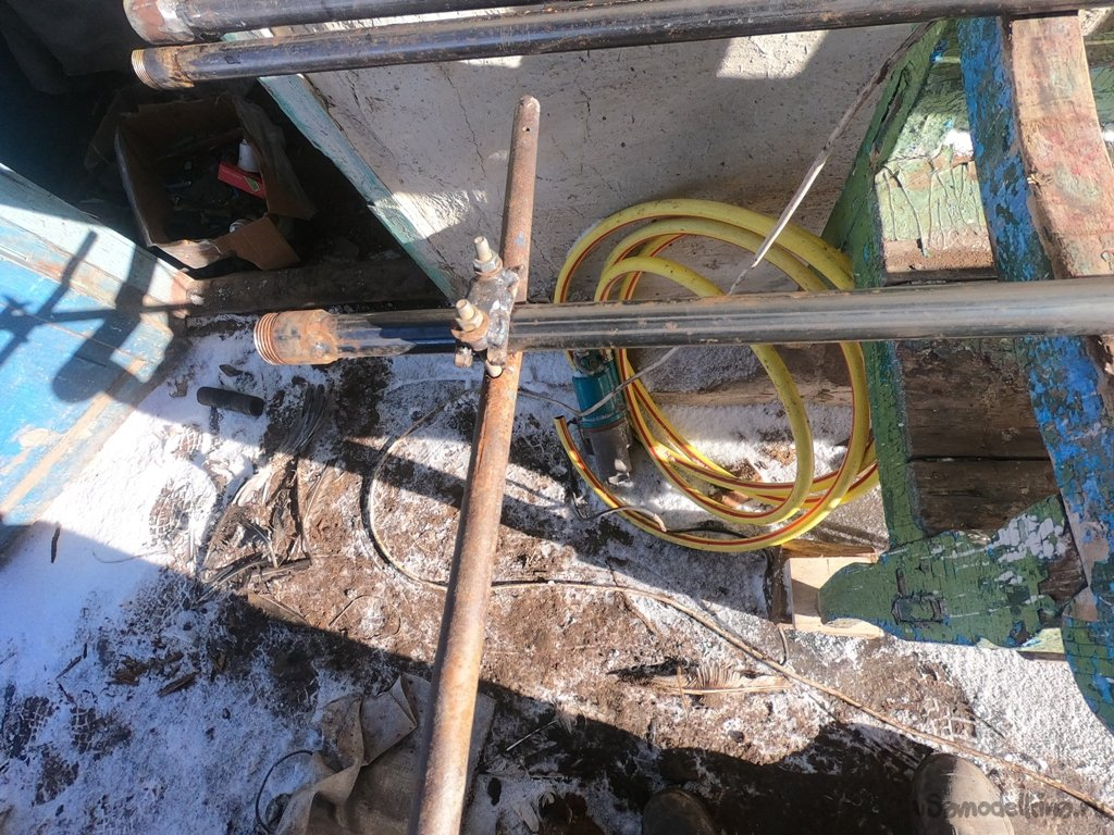 How I assembled a hydrodrill and drilled a well for lime 33 meters