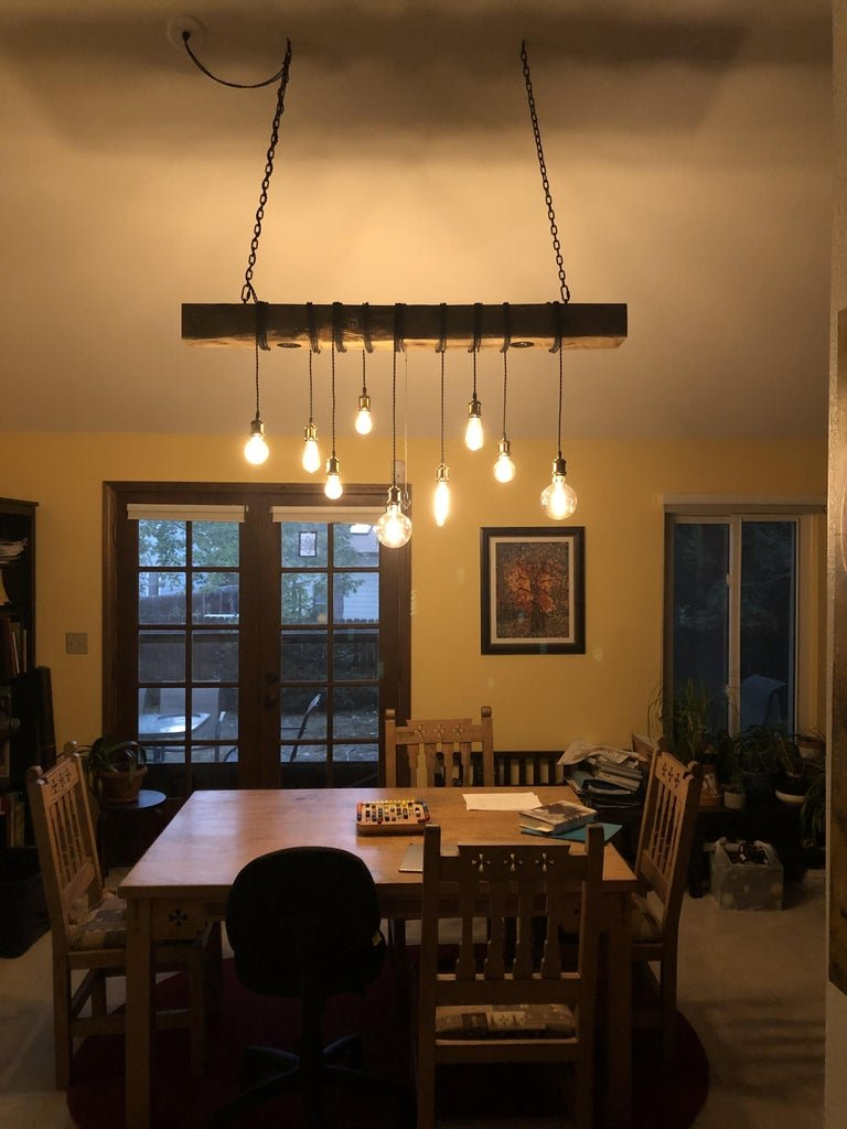 This old timber beam chandelier will transform your interior beyond recognition