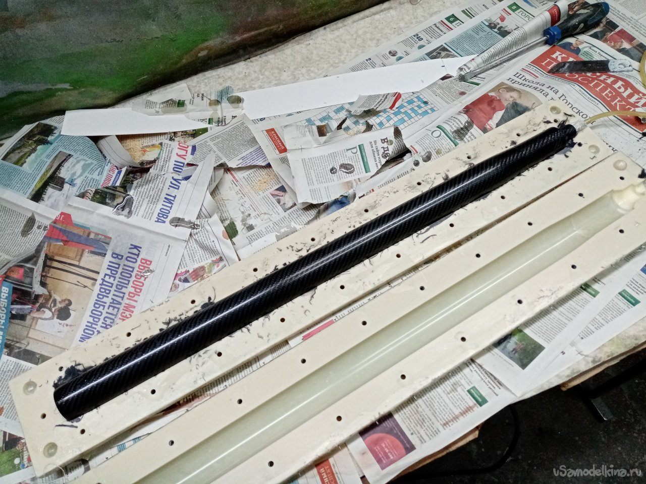 F5J class glider carbon fuselage bookmark