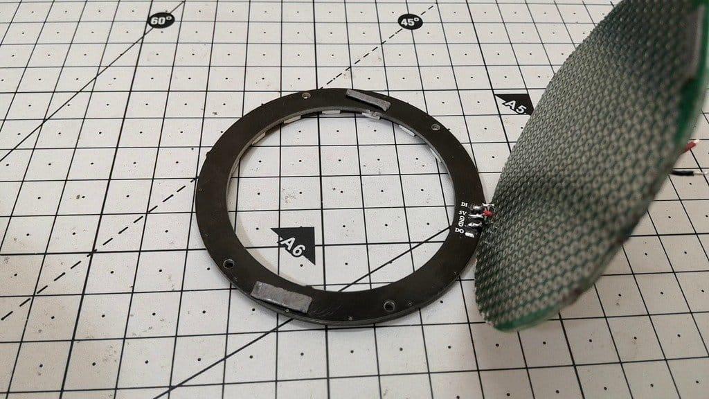 Non-pixel ring showing