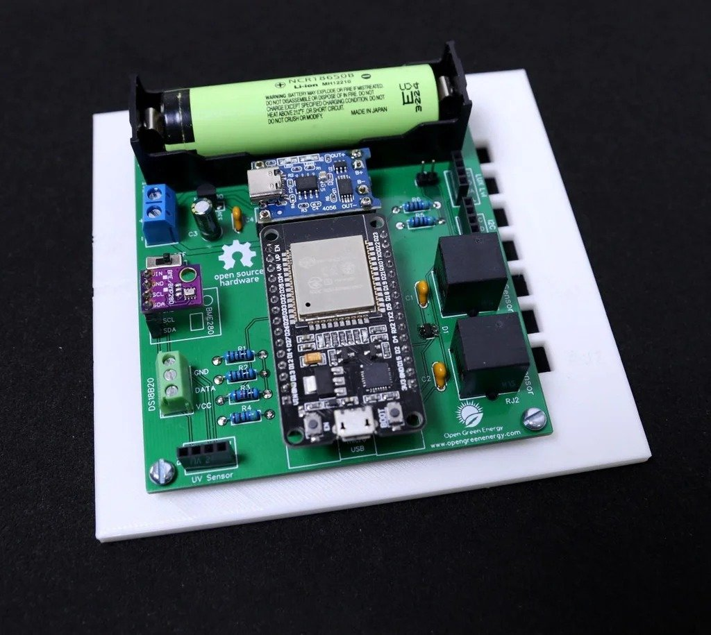 WiFi-solar-powered weather station