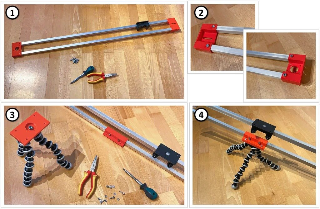 Motorized 2-axis slider for photo/video shooting
