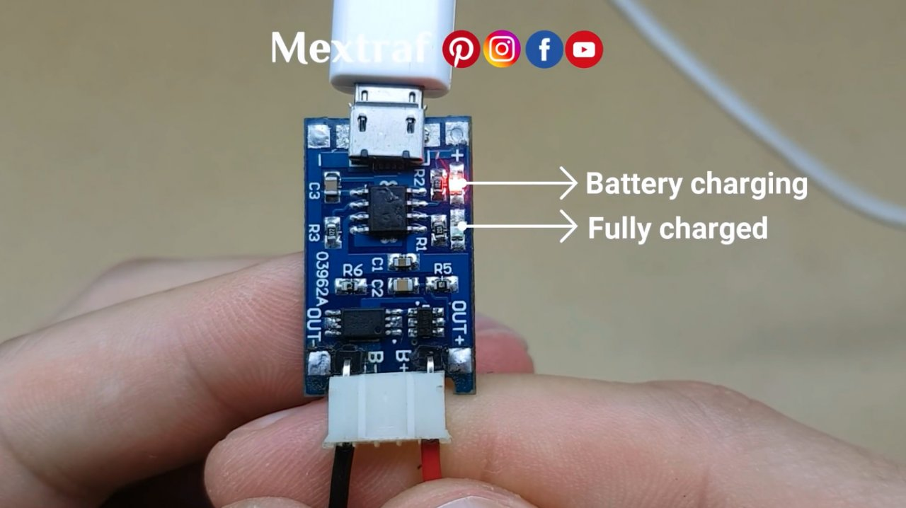 Simple charger (for Li-Ion batteries) with sound signaling of completion