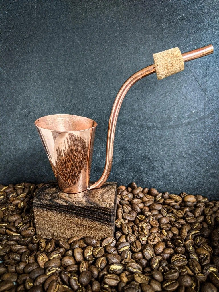 Traveling copper turk for coffee