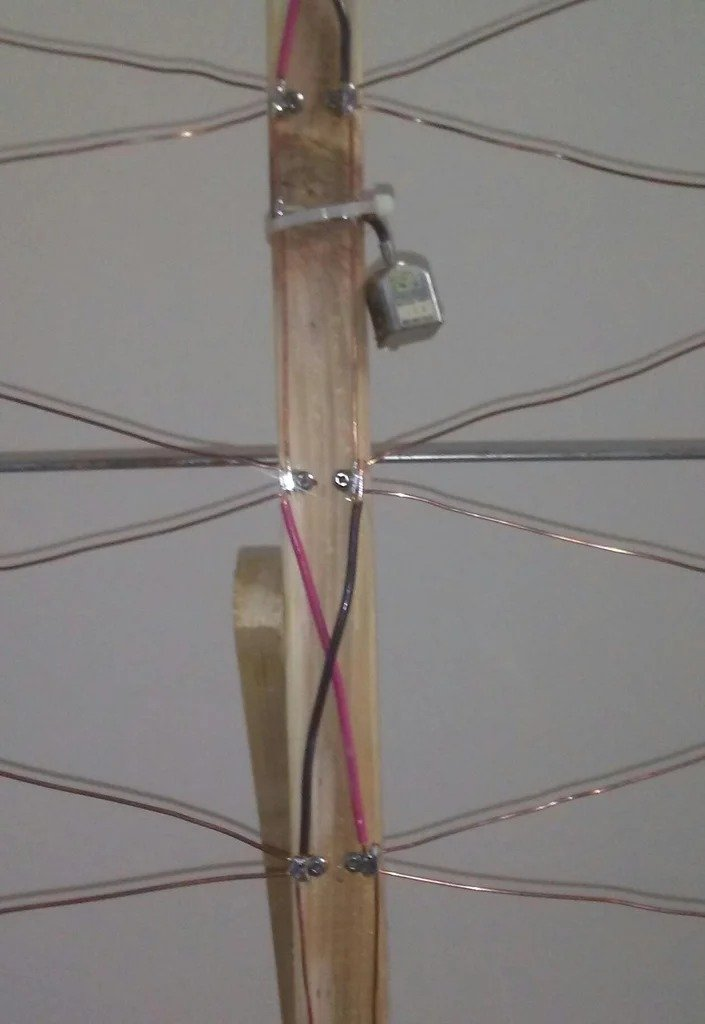 Antenna from clothes dryer