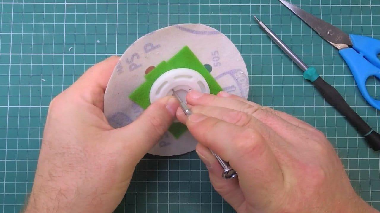 How to make a miniature orbital (disk) sander.