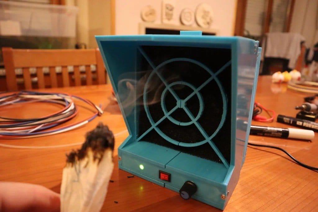 Homemade smoke extractor