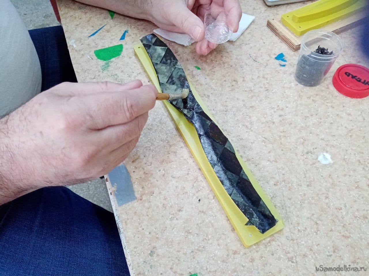 Изготовление карбоновых винтов для соосной системы