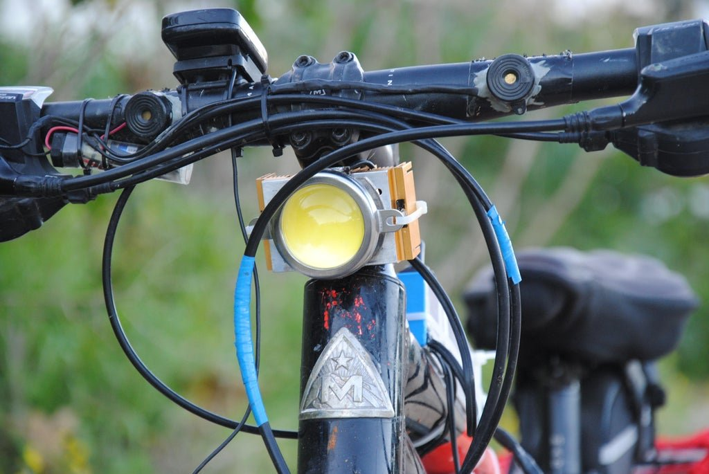 Additional bright lights for the bike