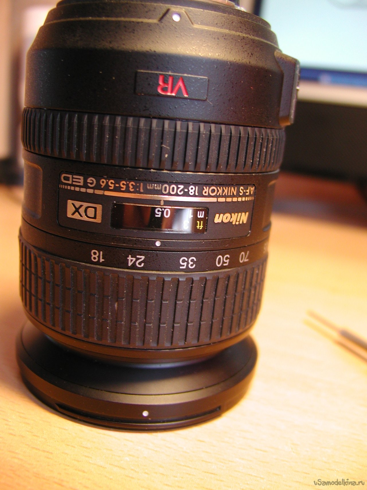 Lens repair Nikon DX AF-S Nikkor 18-200mm 1: 3.5-5.6G ED SWM VR IF Aspherical