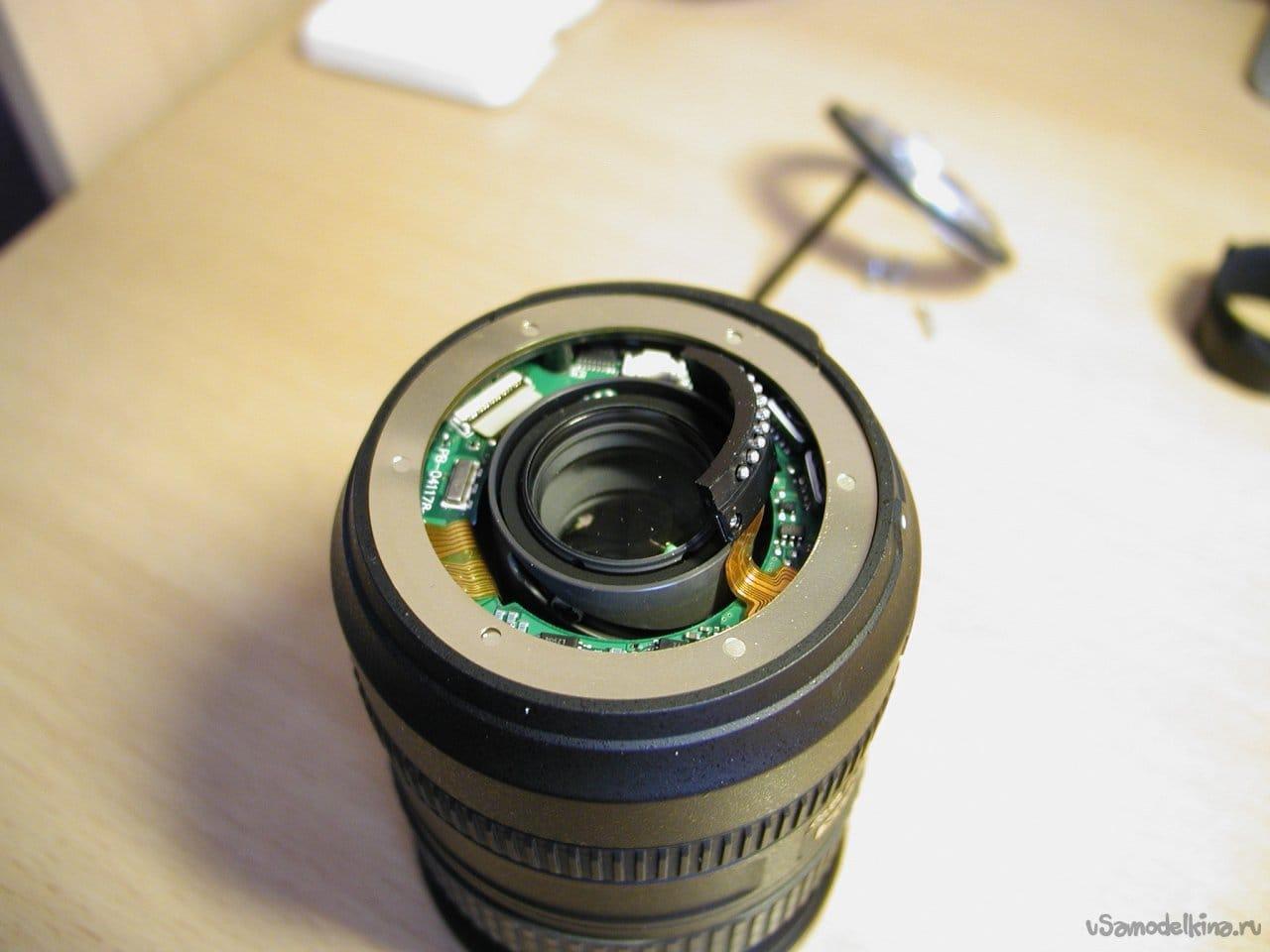 Repair of the lens Nikon DX AF-S Nikkor 18-200mm 1: 3.5-5.6G ED SWM VR IF Aspherical