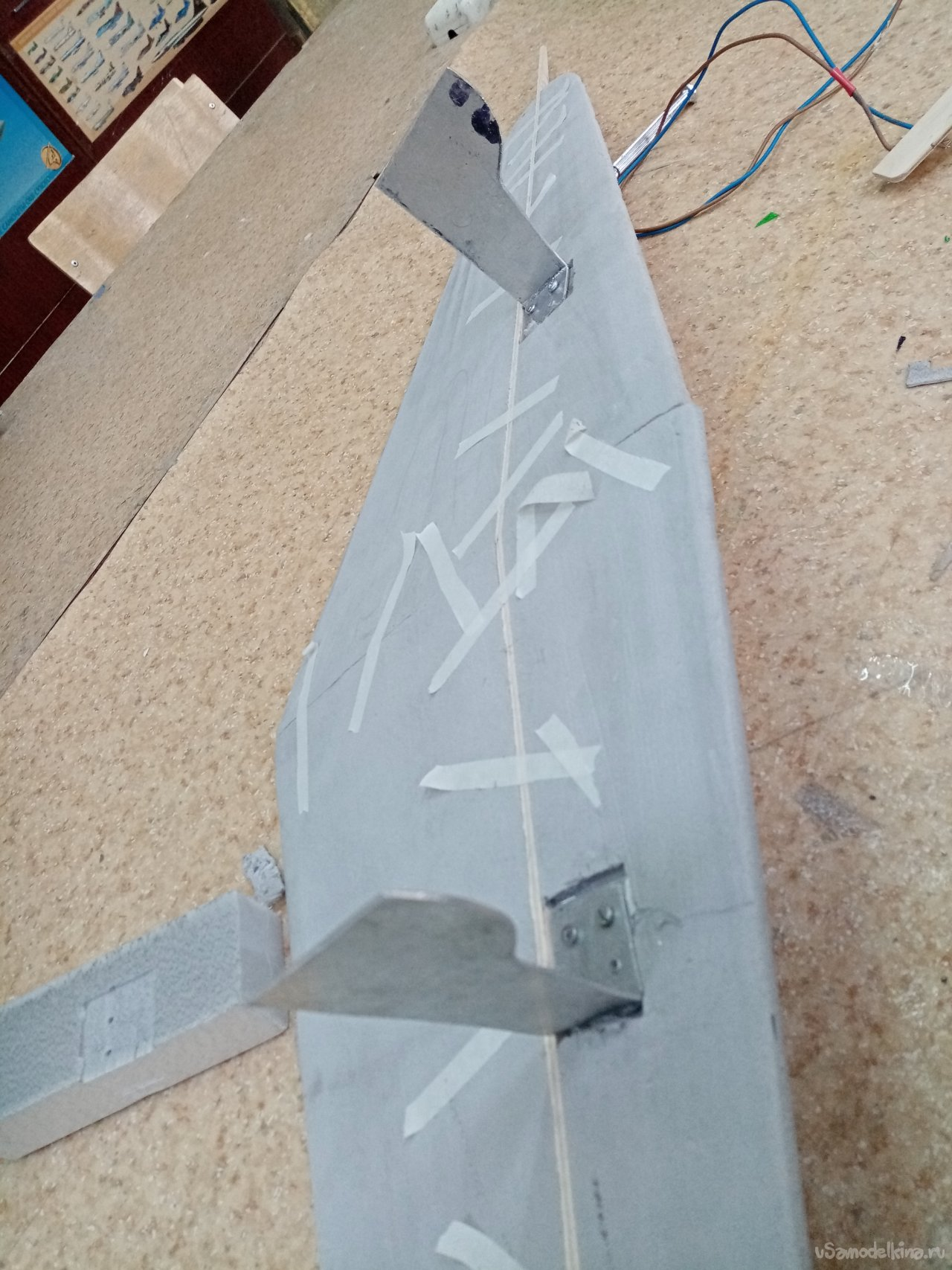 Line model of the Yak-3 aircraft of the Hero of the Soviet Union Marcel Lefebvre