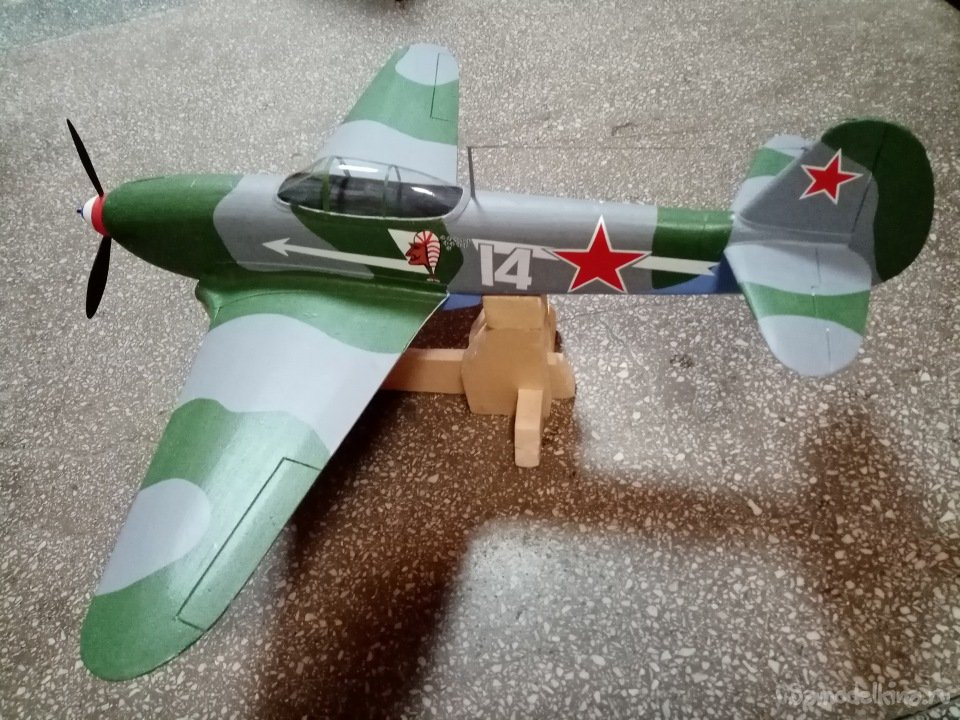 Cordless model of the Yak-3 aircraft of the Hero of the Soviet Union Marcel Lefebvre