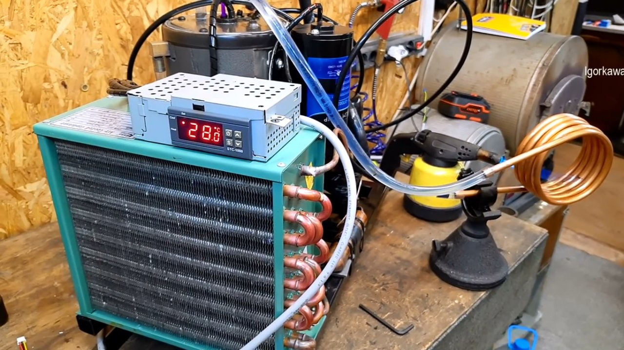 How to make a chiller (refrigeration unit) for CNC machines and not only