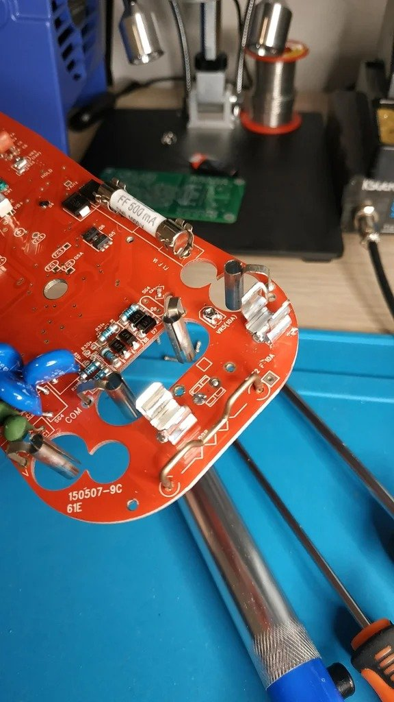 Modification of the multimeter for current and voltage protection
