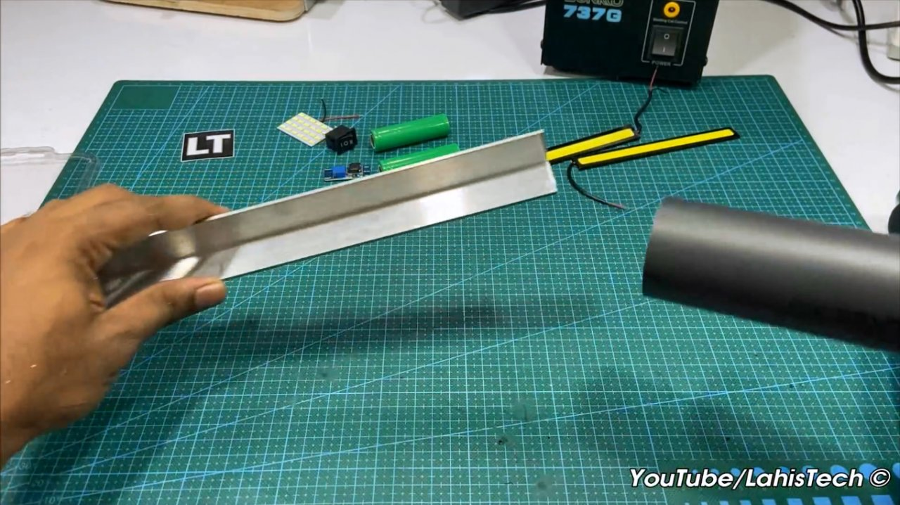 How to make a rechargeable emergency light on COB modules