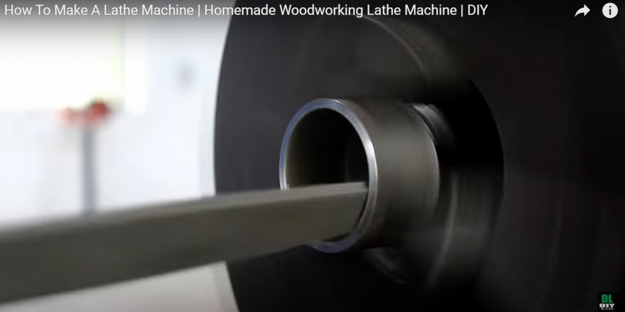 Wood lathe from drill and scrap metal
