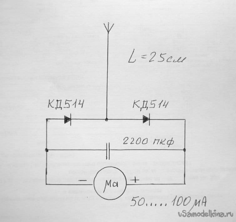 Push-pull radio transmitter on KT315G