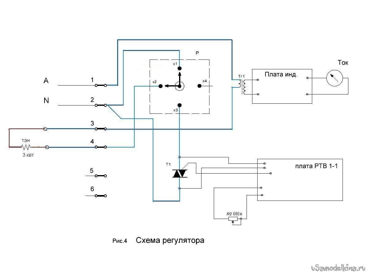 Triac heating control unit