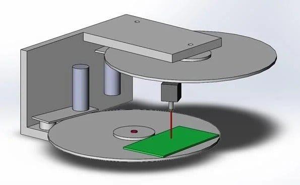 Rotary CNC laser engraver