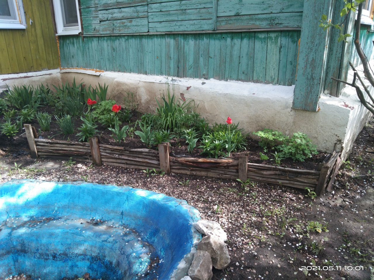 Fencing for a flower garden from siding