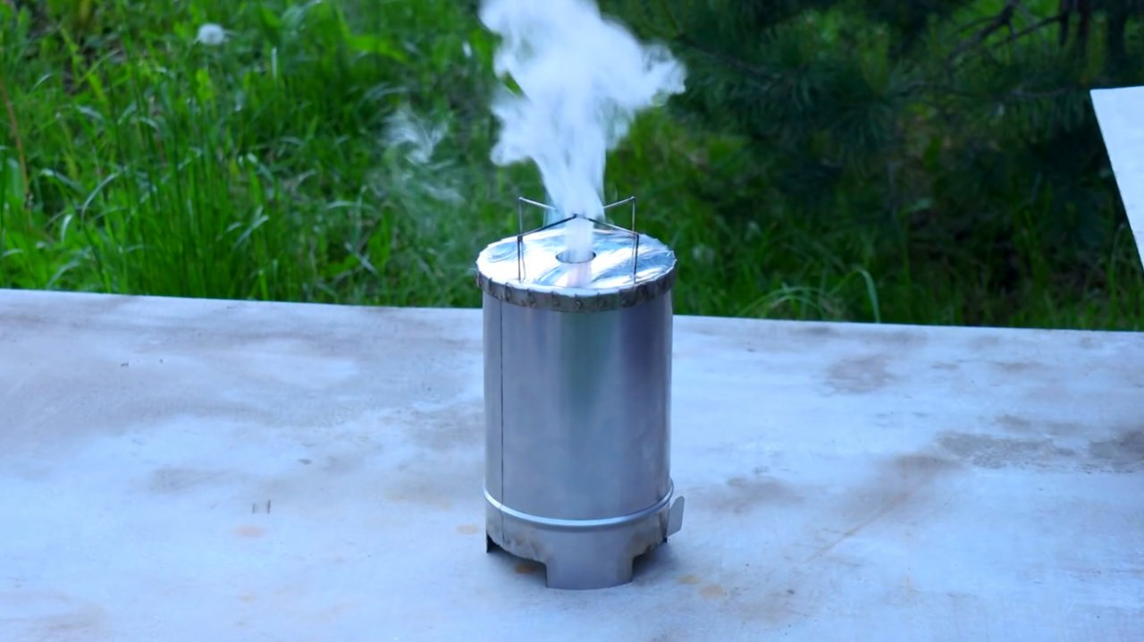 Making a portable rocket oven