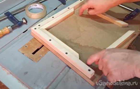 A budget frame for a mirror, photo or painting