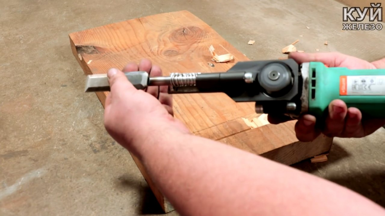 Electric tool & mdash; do-it-yourself grinder attachment