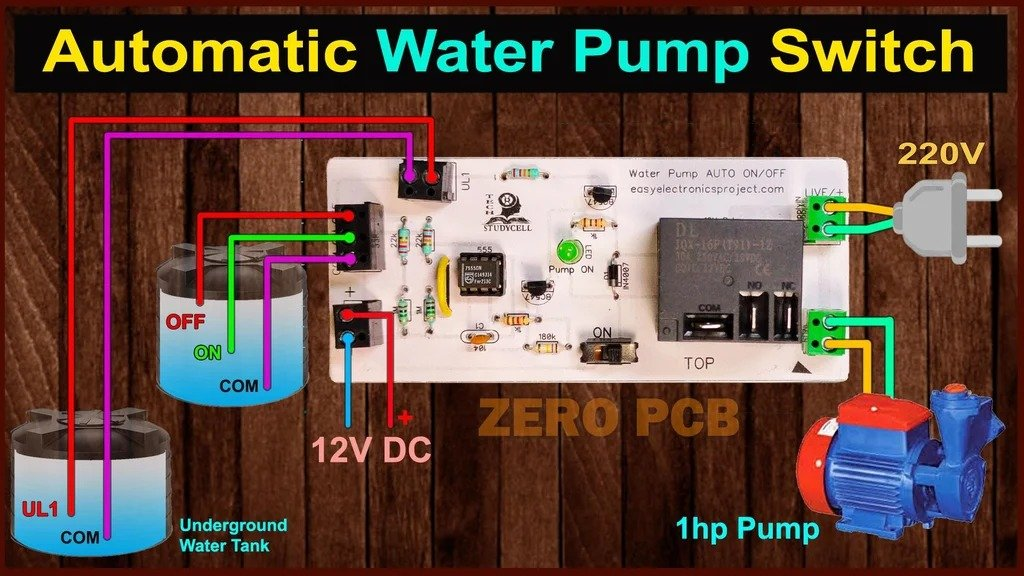 Automation for submersible pump and tank