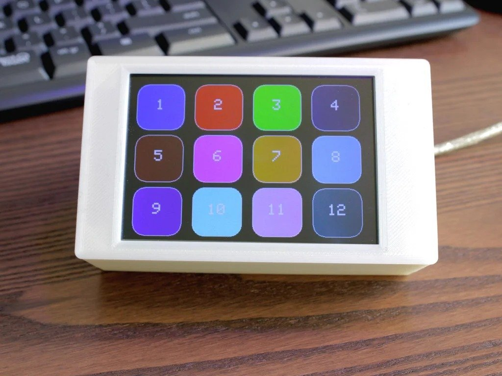 Numeric keypad with touch screen