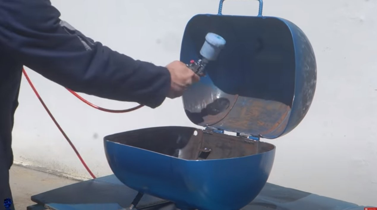 A device for washing parts, tools, etc.
