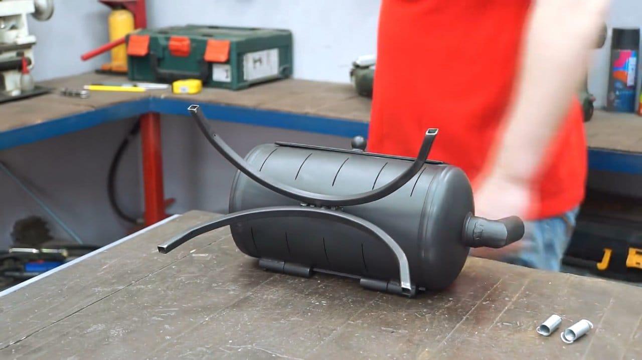 Делаем простой угольный мини-гриль
