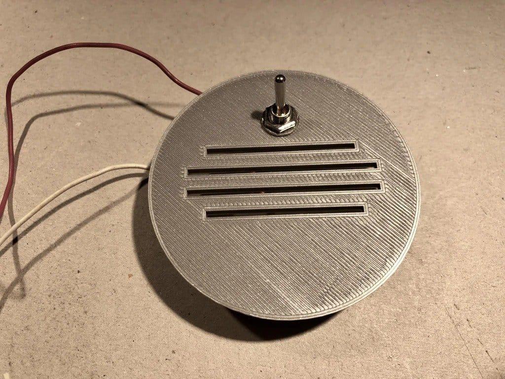 3D printed LED lamp