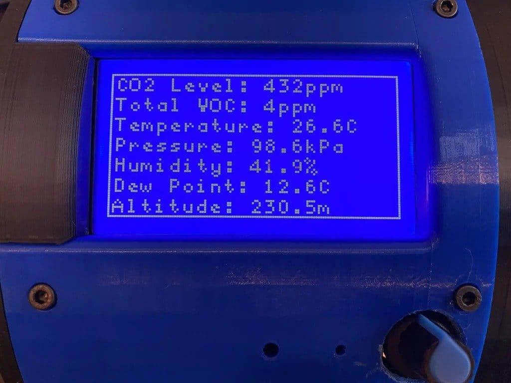 Устройство для измерения различных параметров окружающей среды