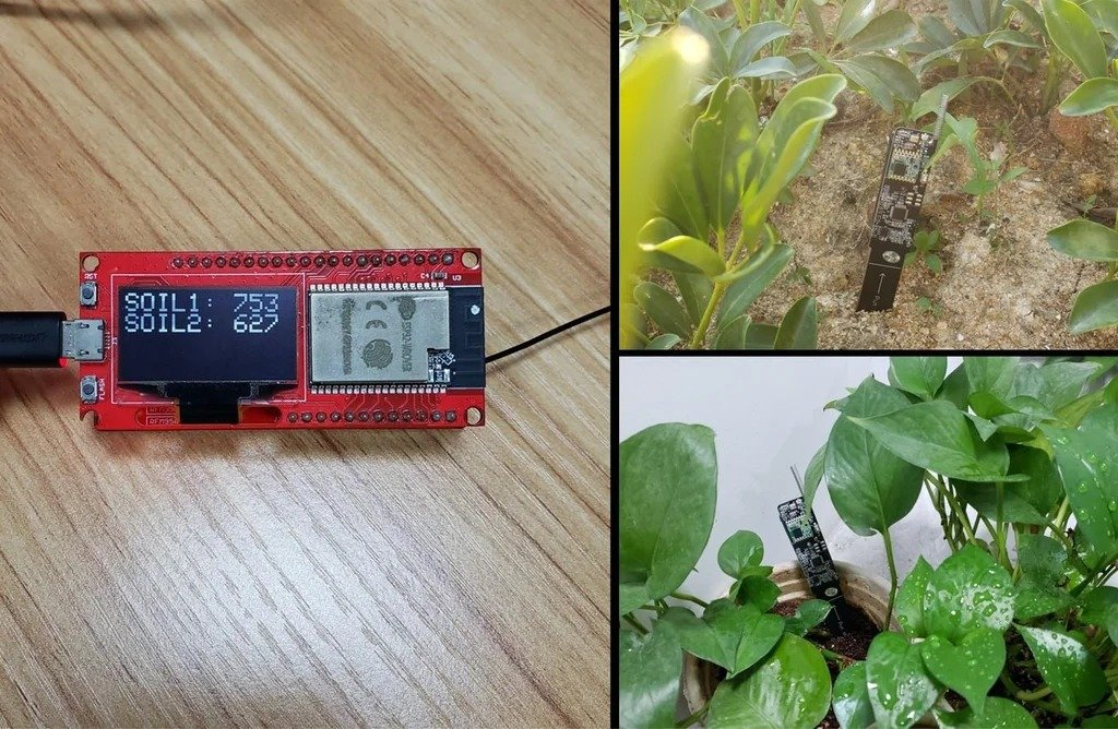 Remote monitoring of soil moisture, air and temperature