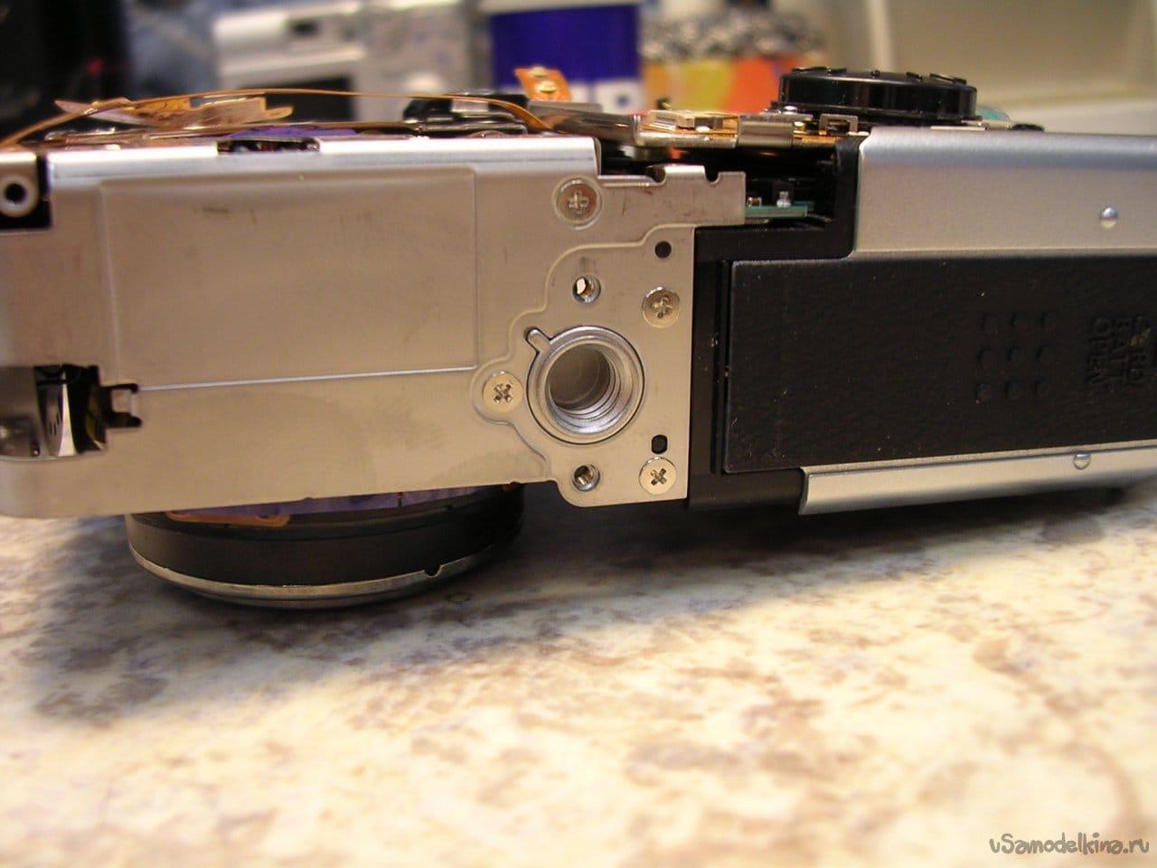 Repairing a minimized Canon PowerShot S80 lens