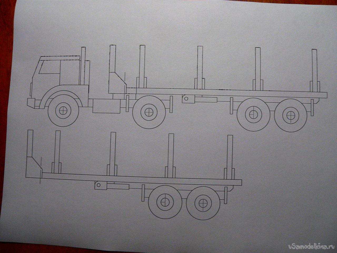 Toy timber timber truck
