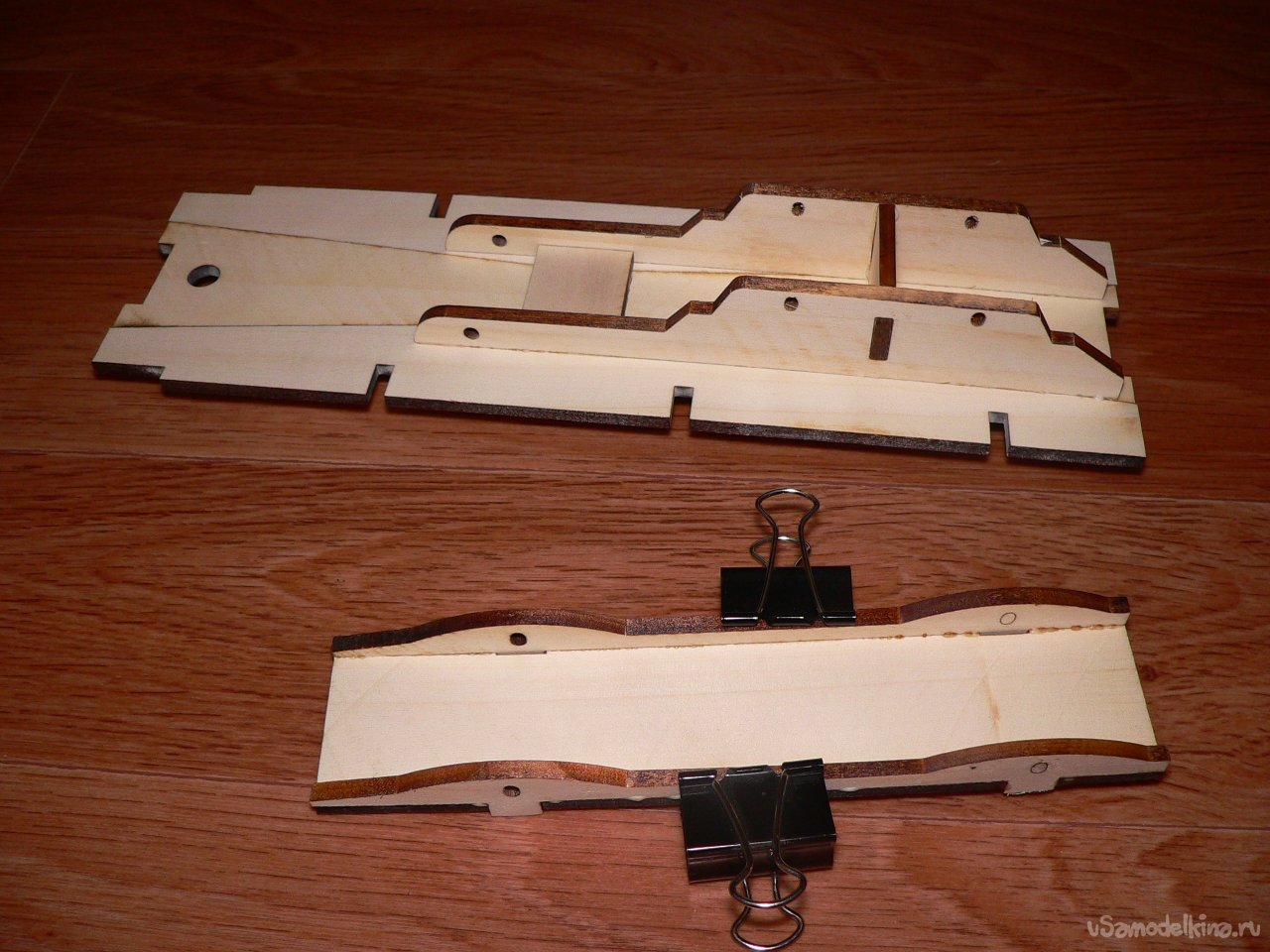 Toy timber car made of wood