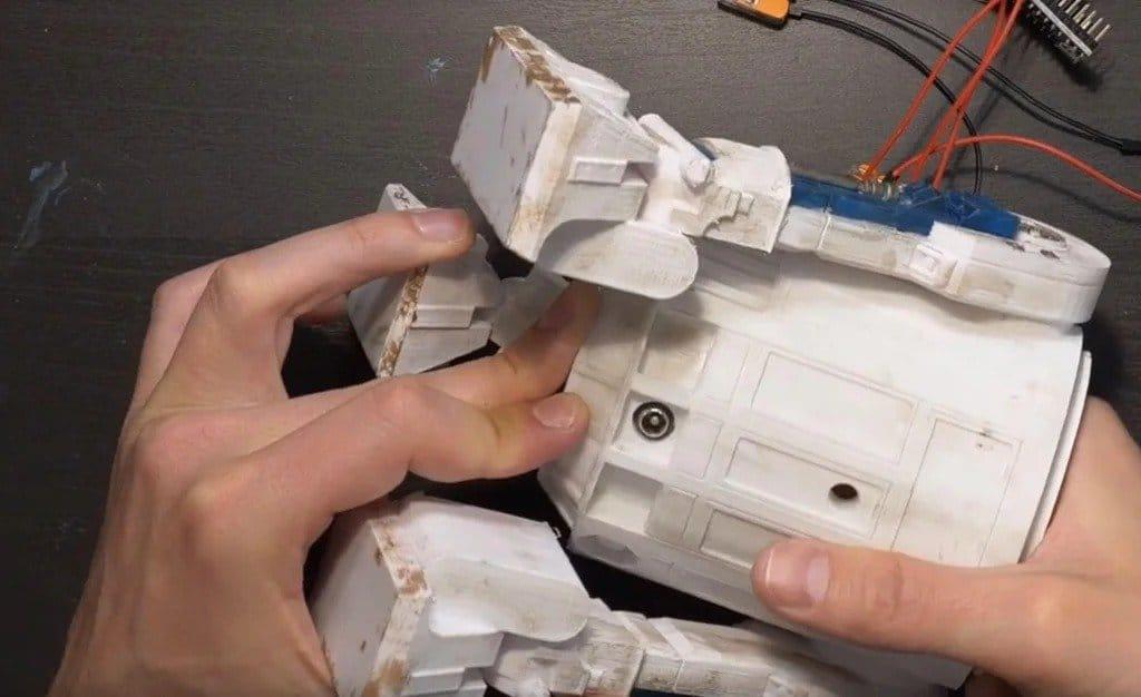 Таймер + часы в виде робота R2-D2