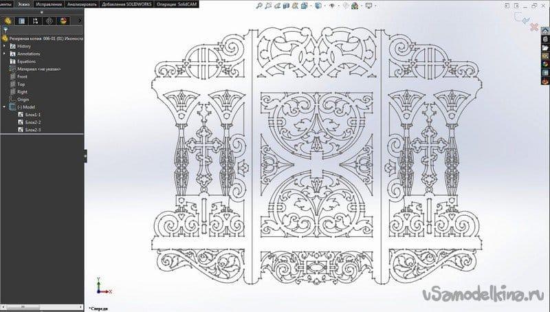 Carved iconostasis