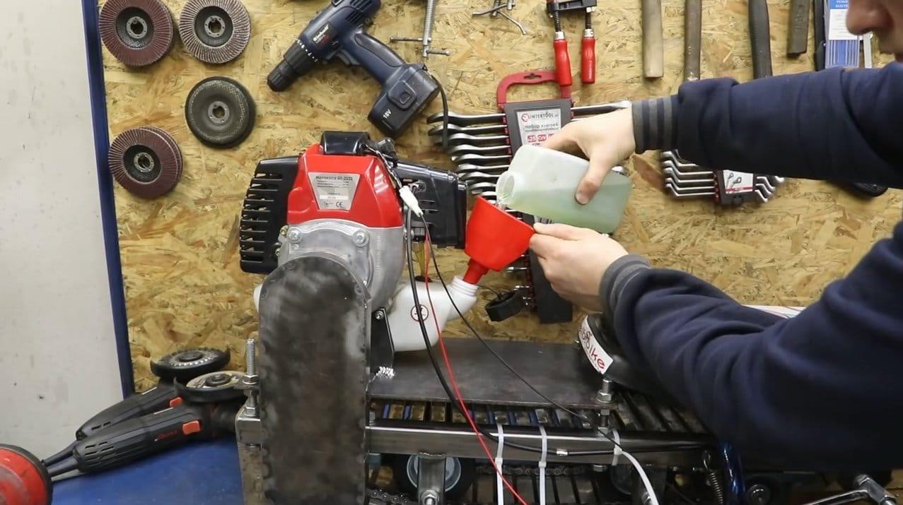 Как сделать снегоход из мотокосы