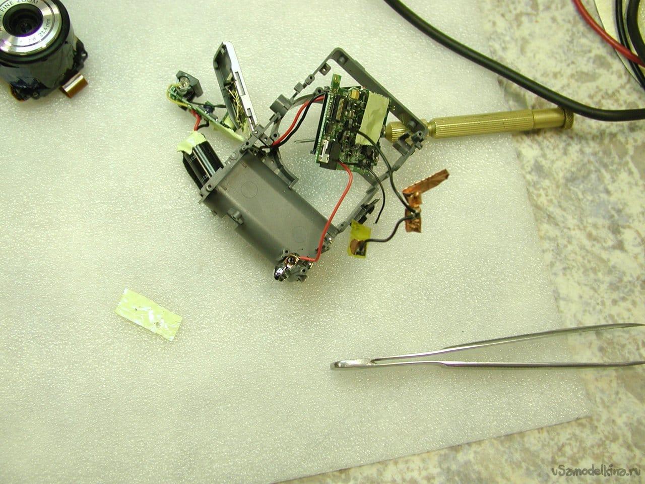 How the camera dug sand. Genius P-433