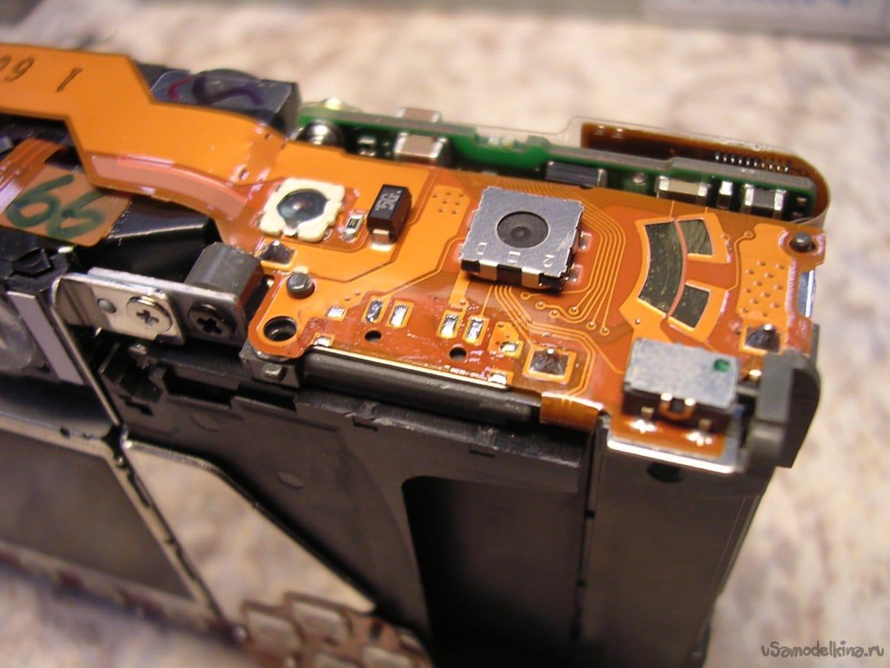 Very fast repair of CANON ixus V3