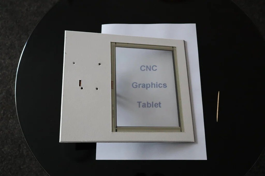 Graphic tablet for CNC