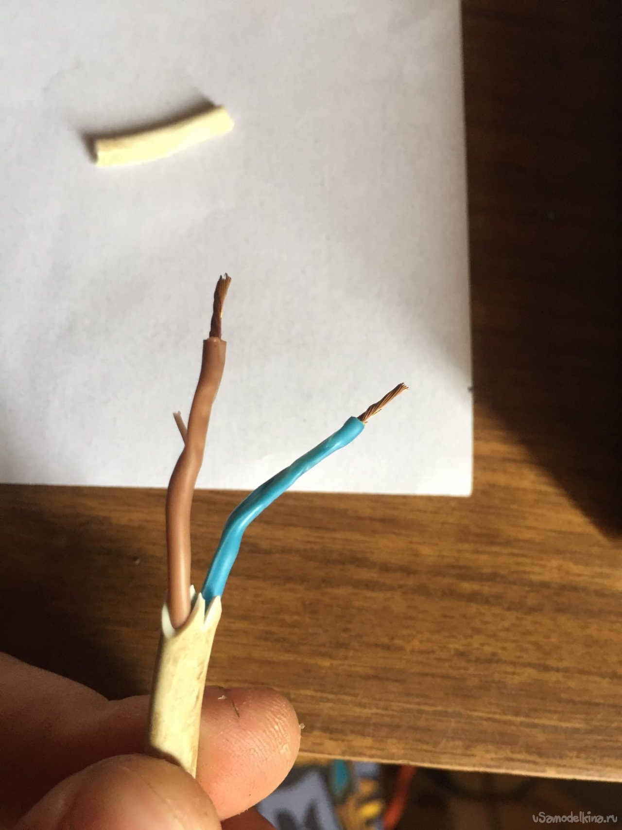 An attempt to convert a cordless screwdriver to a wire