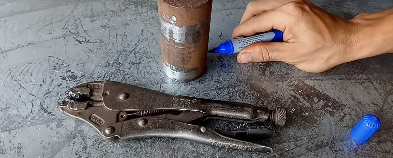 Wrench and old geyfer clamp