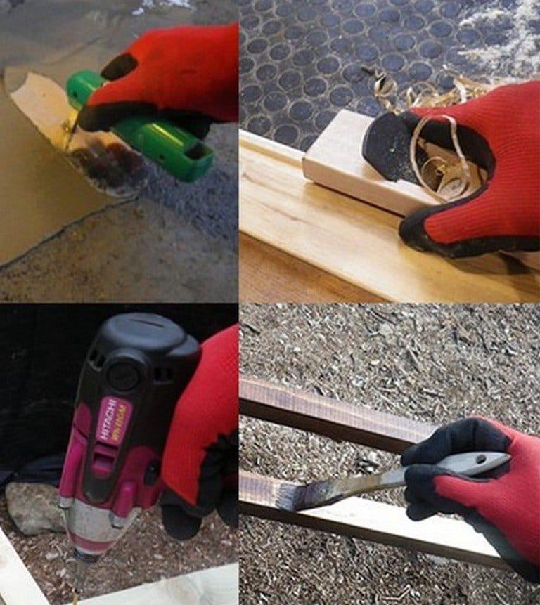Simple work glove dryer