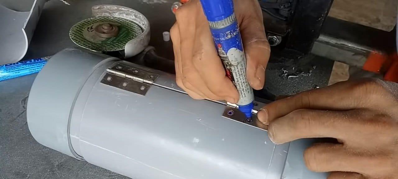 Portable organizer tube for small fasteners