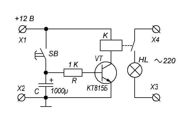 Delayed circuit breaker