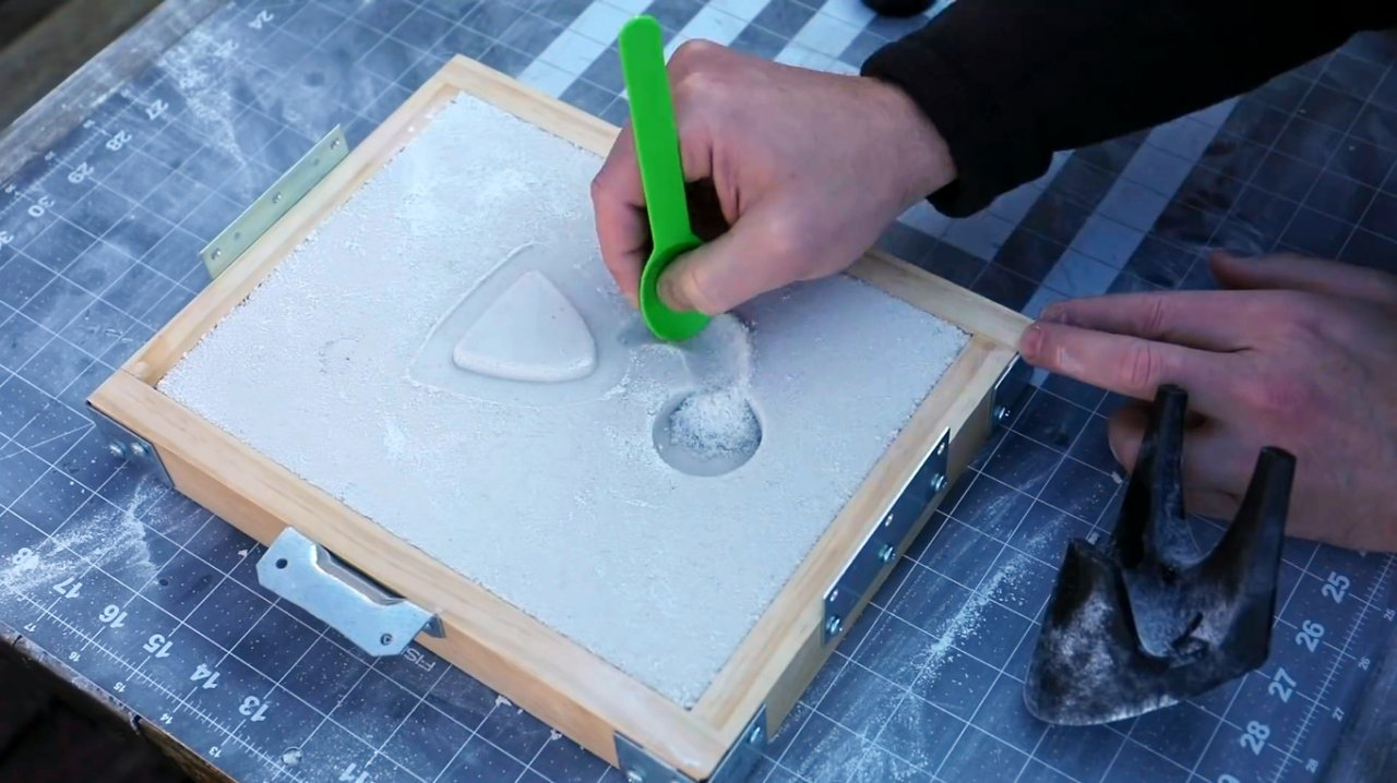 Casting of aluminum parts based on 3D printed models